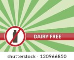 Dairy free banner for food allergy concept - stock photo
