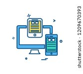 computer icon design vector | Shutterstock .eps vector #1209670393