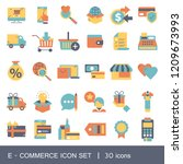 e commerce and shopping icon...   Shutterstock .eps vector #1209673993
