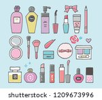 cosmetics border line   Shutterstock .eps vector #1209673996