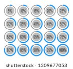 icons template pie graph circle ... | Shutterstock .eps vector #1209677053