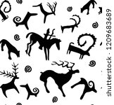 seamless pattern on the theme... | Shutterstock .eps vector #1209683689