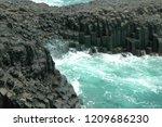 columnar joint coastline in...   Shutterstock . vector #1209686230