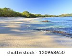 sand and shells on playa... | Shutterstock . vector #120968650