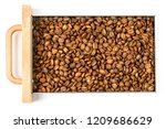 freshly roasted coffee  medium... | Shutterstock . vector #1209686629