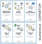 vector set of mobile app... | Shutterstock .eps vector #1209687139