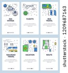 vector set of mobile app... | Shutterstock .eps vector #1209687163
