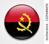 flag of angola. round glossy... | Shutterstock .eps vector #1209688696