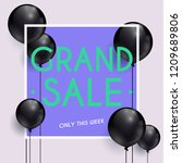 grand sale banner. can be used... | Shutterstock .eps vector #1209689806
