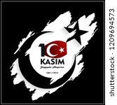 10 kasim november 10 death day... | Shutterstock .eps vector #1209694573