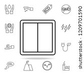 switch outline icon. ecology...
