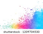 abstract powder splatted... | Shutterstock . vector #1209704530