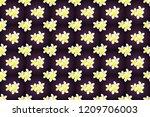 optical illusion with plumeria... | Shutterstock . vector #1209706003