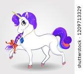 beautiful cartoon walking...   Shutterstock . vector #1209713329