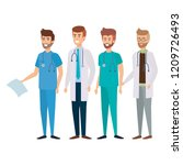 group of doctors medical staff | Shutterstock .eps vector #1209726493