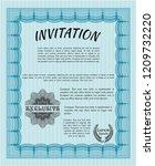 light blue retro invitation.... | Shutterstock .eps vector #1209732220