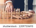 close up finger businessman... | Shutterstock . vector #1209733693