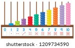 Abacus Showing Different Numbe...