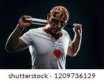 scary halloween theme and... | Shutterstock . vector #1209736129