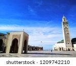 the hassan ii mosque or grande... | Shutterstock . vector #1209742210
