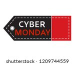 cyber monday sale. inscription... | Shutterstock .eps vector #1209744559