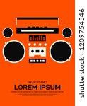 music poster template design...   Shutterstock .eps vector #1209754546