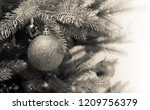 silver christmas ornament ball... | Shutterstock . vector #1209756379