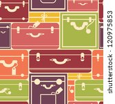 colorful luggage seamless... | Shutterstock .eps vector #120975853