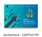 return on investment roi... | Shutterstock .eps vector #1209761749