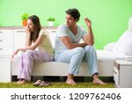 woman and man in the bedroom... | Shutterstock . vector #1209762406
