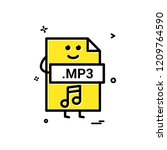 computer mp3 file format type... | Shutterstock .eps vector #1209764590
