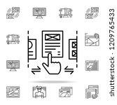 ux design icon. web development ...