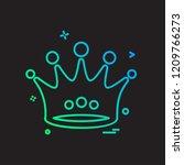 crown icon design vector | Shutterstock .eps vector #1209766273