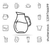carafe of water dusk icon.... | Shutterstock .eps vector #1209766699