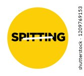 no spitting vector signage... | Shutterstock .eps vector #1209769153