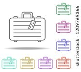 suitcase dusk icon. elements of ... | Shutterstock .eps vector #1209769366