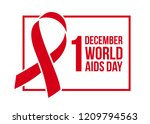 banner with red ribbon. poster... | Shutterstock .eps vector #1209794563