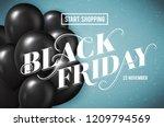 banner for black friday sale... | Shutterstock .eps vector #1209794569