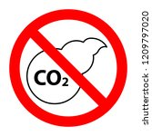 co2 air pollution stop... | Shutterstock .eps vector #1209797020