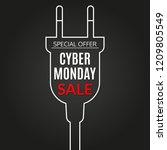 cyber monday sale banner.... | Shutterstock .eps vector #1209805549