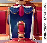 golden kings throne inlaid with ... | Shutterstock .eps vector #1209811453