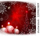 christmas red background with... | Shutterstock .eps vector #1209815809