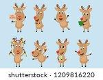 Reindeer Charactor Set....