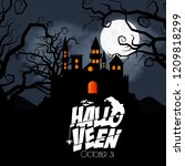 happy halloween brochure design ... | Shutterstock .eps vector #1209818299