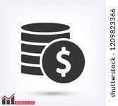 vector icon coin | Shutterstock .eps vector #1209823366