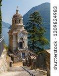 chapel in brienno comune in... | Shutterstock . vector #1209824983