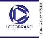 circle play abstract logo... | Shutterstock .eps vector #1209827380