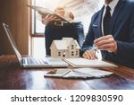 real estate agent and sales... | Shutterstock . vector #1209830590