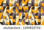 abstract geometric mid century... | Shutterstock .eps vector #1209832753