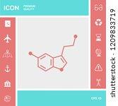 chemical formula icon. serotonin | Shutterstock .eps vector #1209833719